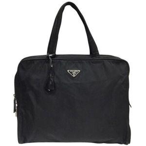 Prada black Tessuto nylon vintage satchel bag